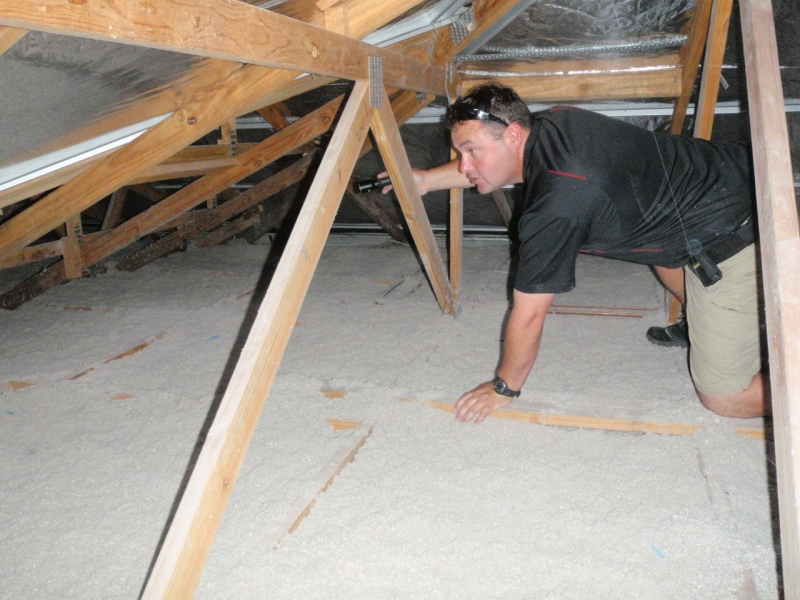 photo of a roof void building inspections