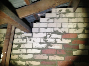 fire separation wall defect