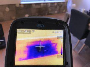 Thermal Imaging Identifying Moisture Ingress Through Blockwork