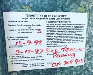 How to tell if your Termite Barrier is out of date.